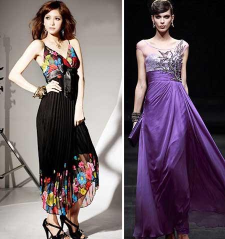 длинные платья с корсетом из шелка