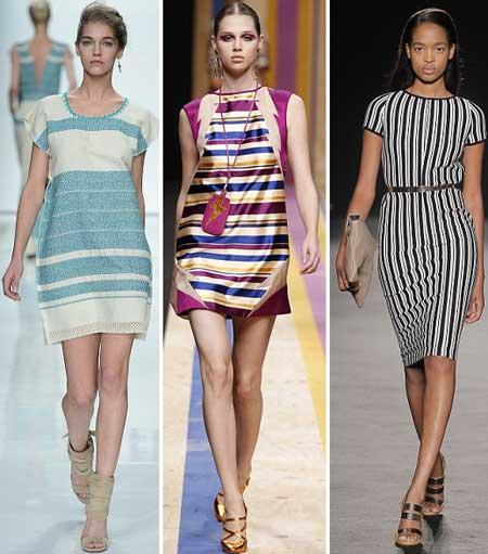 модные платья в полоску 2013