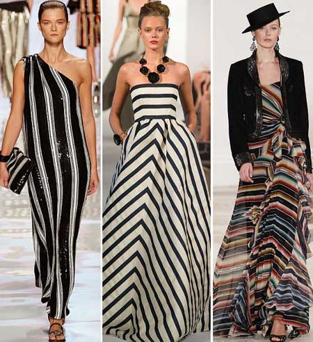вечерние платья 2013 в полоску