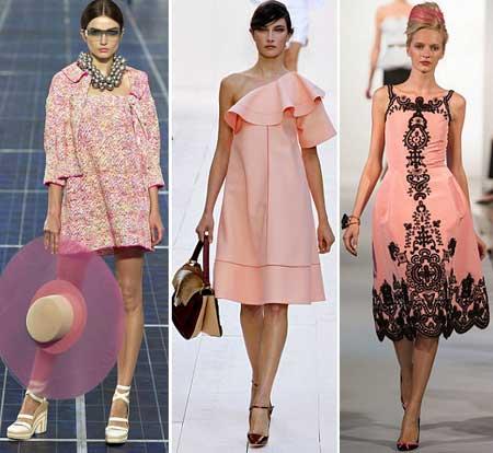 розовые платья 2013 фото
