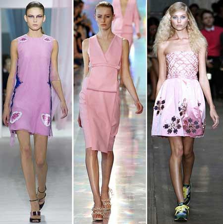 модные розовые платья весна-лето 2013