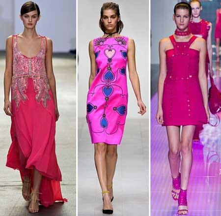 модели розовых платьев 2013