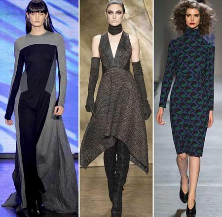 нарядные и повседневные платья 2014 из шерстяной ткани