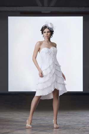 свадебное платье в стиле чарльстон с заниженной талией