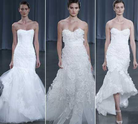 свадебные платья с декором 3D