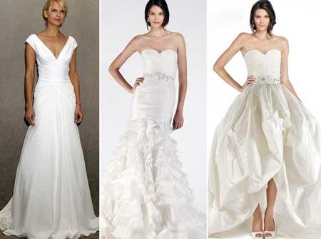 прямые и пышные свадебные платья 2014
