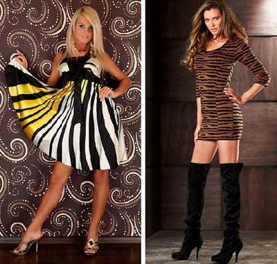 с чем носить тигровое платье