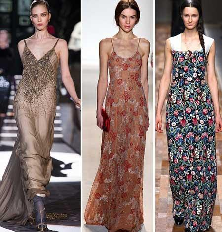 модные вечерние платья 2014
