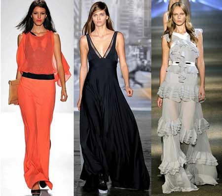 длинные весенние платья 2013