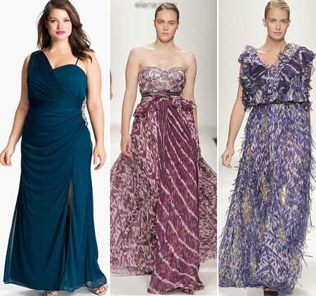 модные вечерние платья для полных 2013