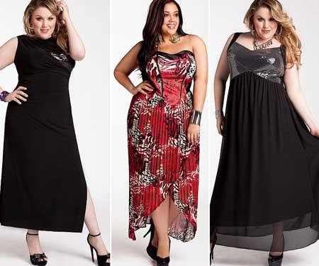 фасоны вечерних платьев 2013 для полных