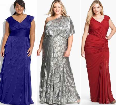 вечерние платья 2013 для полных фото