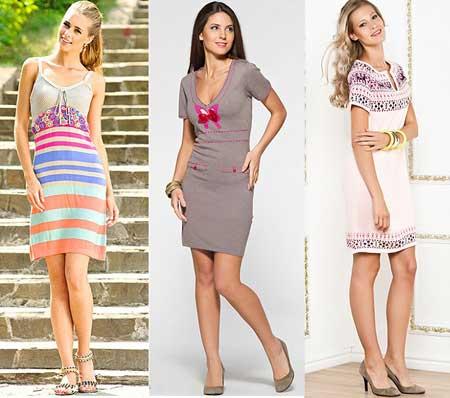 модные вязаные платья лето 2013