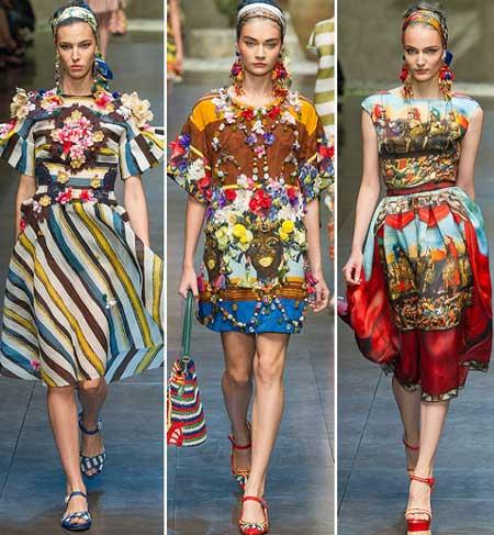 самые яркие платья 2013 от D&G