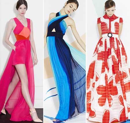 длинные платья 2013 ярких расцветок
