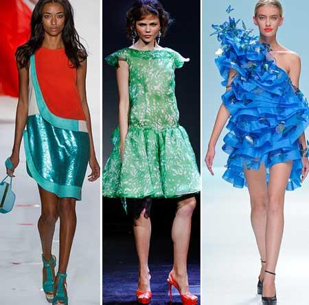 необычные короткие платья 2013 из яркой ткани