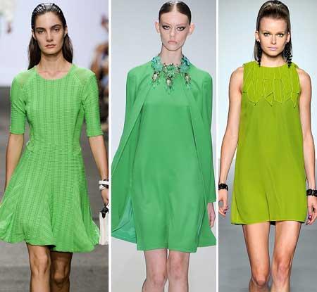 зеленые платья весна-лето 2013