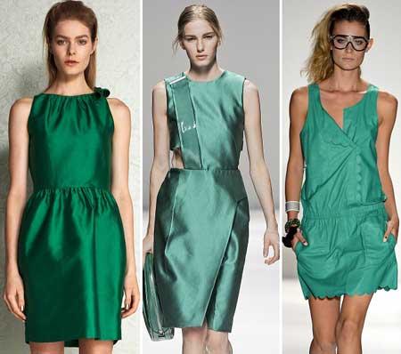 фото зеленых платьев 2013