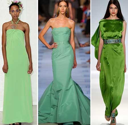 длинные зеленые платья 2013 фото
