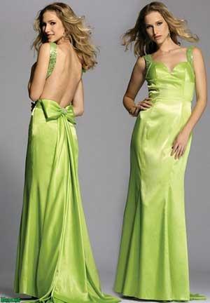 светлое зеленое платье с открытой спиной